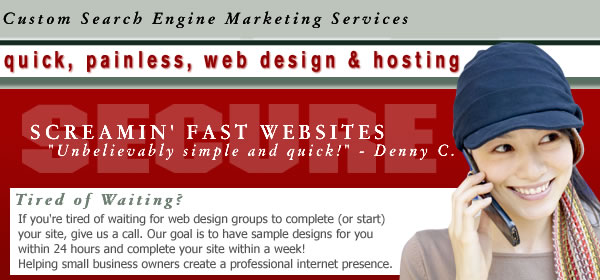 web hosting design search engine marketing