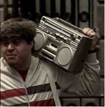 boom box on shoulder