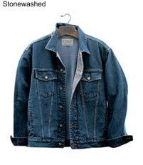 stone washed blue jean jackets jordache